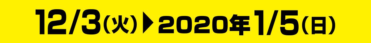 12月3日(火)~2020年1月5日(日)