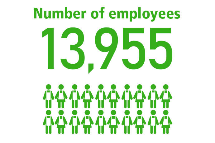 Number of employees 13,955