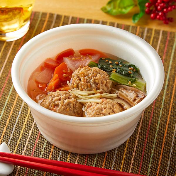 根菜入りつくねの和風スープ